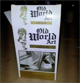 Photo of the Old World Art gilding kit
