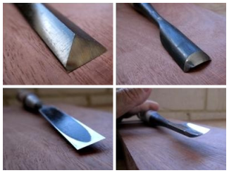 Photos of specialty chisels that are used for getting into corners or fr carving