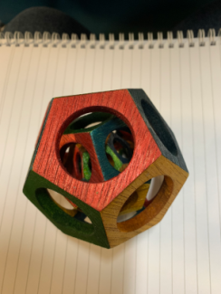 Photo of a dodecahedron toy