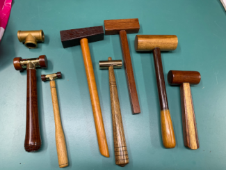 Photo of prototype hammers made by Rob Rankin