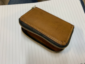 Photo of a leather purse made by Mark Ellis