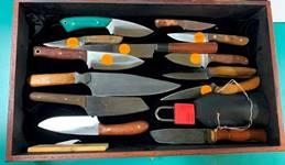 More knives made by the presenter